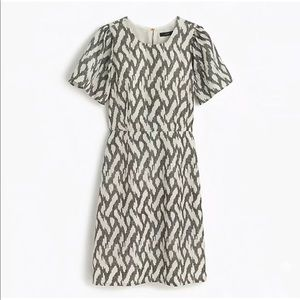 J. Crew Flutter Sleeve Ikat Dress Sz 12